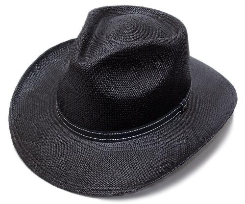 送料無料 CHRISTYS' LONDON クリスティーズ・ロンドン パナマ ウエスタンストローハット ブラック 18147 帽子 麦わら帽子 中折れハット パナマハット ツバ長 メンズ レディース 男女兼用