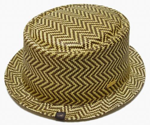 KANGOL (KANGOL) hat stroporkpai Hat JACQ PORKPIE, Straw Herringbone