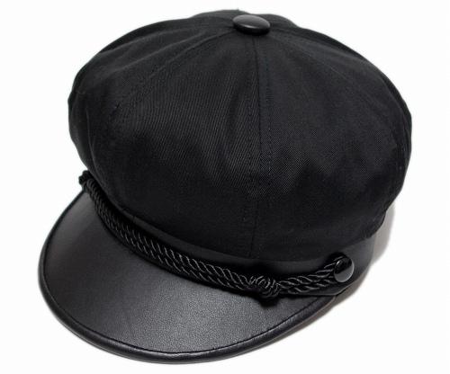 ニューヨークハット NEW YORK HAT帽子 ハンチング キャスケット 6019 COTTON BRANDO コットン ブランド セーラーキャップ マリン メンズ レディース 大きなサイズ BlackEHWDI92