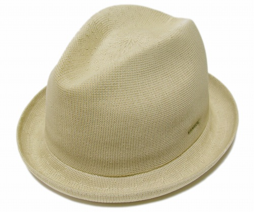 KANGOL TROPIC PLAYER カンゴール トロピックプレイヤー, Beige [ ぼうし ヘッドギア メッシュ 中折れ HAT 中折れハット 中折れ帽 大きいサイズ XXLサイズ メンズ レディース 男性用 女性用 男女兼用 ]