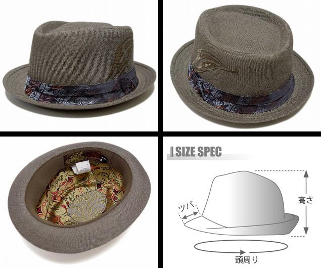 Goorin(石头磷)帽子帽子MINNA MAORI KORU,Brown