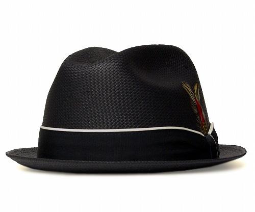 ニューヨークハット 帽子 ストローハット 中折れ 麦わら New York Hat 2124 STRAW LOUIE ストロー ルイー ブラック 大きいサイズ XXL レディース メンズ 送料無料 あす楽 春夏