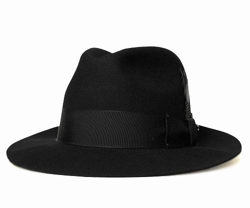 8ea8bbcb2d8ff Bailey Bailey Hollywood Series hats felt hats 3814 GANGSTER gangster Black