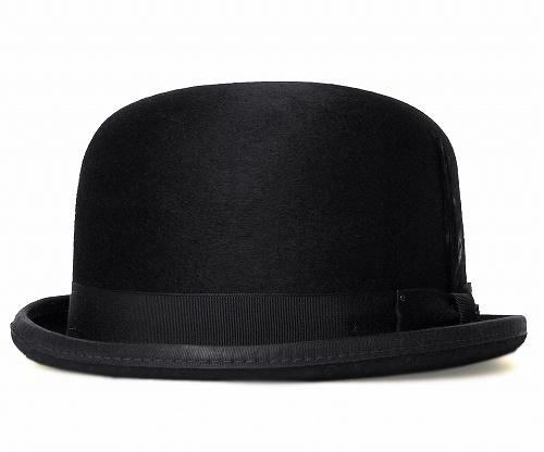 【送料無料】Bailey(ベイリー) [Hollywood Series] 帽子 フェルトボーラーハット HARKER Black