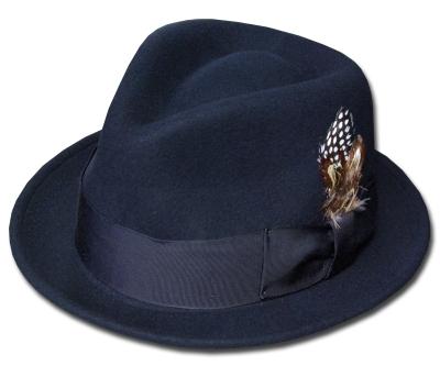 送料無料 New York Hat ニューヨークハット 5329 Tear Drop Stingy Fedora ティアドロップ スティンジー フェドラ Black 帽子 中折れハット ハット フェルトハット 紳士 婦人 メンズ レディース 男女兼用 あす楽