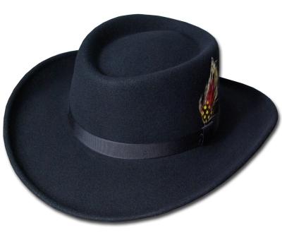 送料無料 New York Hat ニューヨークハット 5314 Mid Nite Gambler(Soft Felt Gambler) ミッドナイト ギャンブラー Black 帽子 フェルトハット ツバ広 紳士 婦人 メンズ レディース 男女兼用