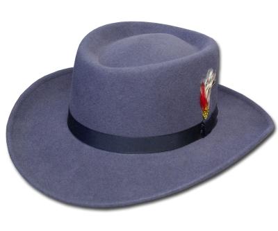 送料無料 New York Hat ニューヨークハット 5314 Mid Nite Gambler(Lite Felt Gambler) ミッドナイト ギャンブラー Grey 帽子 フェルトハット ツバ広 紳士 婦人 メンズ レディース 男女兼用