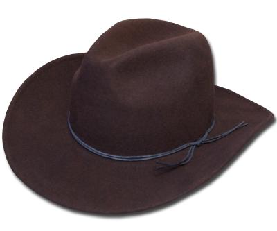 送料無料 New York Hat ニューヨークハット フェルトハット 5311 Rough Rider Slouch ラフライダー スロッチ Brown 帽子 フェルト帽子 中折れハット 紳士 婦人 メンズ レディース 男女兼用 あす楽