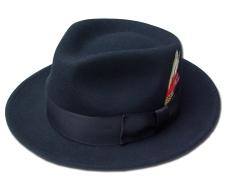 ニューヨークハット New York Hat フェルトハット 5317 LITE FELT GANGSTER 帽子 ハット 中折れハットライト フェルト ギャングスタ Black 送料無料 紳士 婦人 メンズ レディース 男女兼用