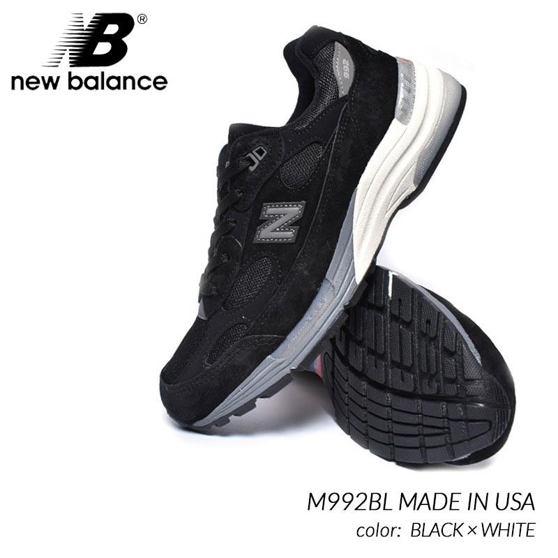 NEW BALANCE M992BL MADE IN USA BLACK × WHITE ニューバランス スニーカー ( 黒 ブラック 白 ホワイト メンズ )