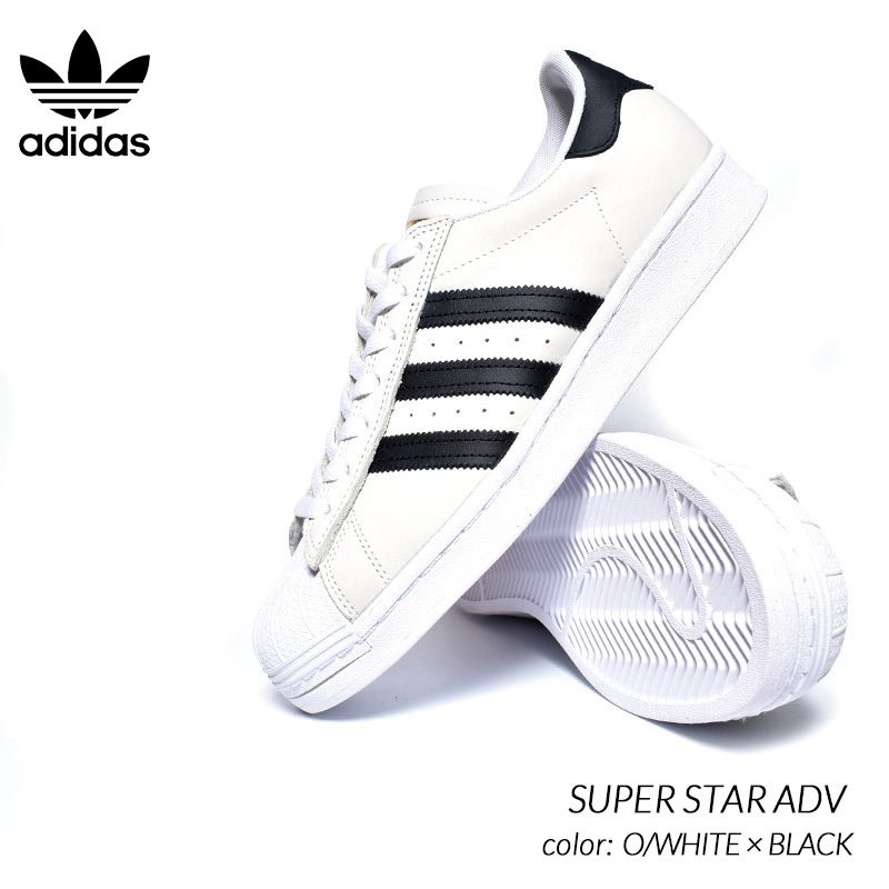 adidas SB SUPER STAR ADV O/WHITE × BLACK アディダス スーパースター スニーカー ( 白 ホワイト ブラック 黒 メンズ FV0322 )