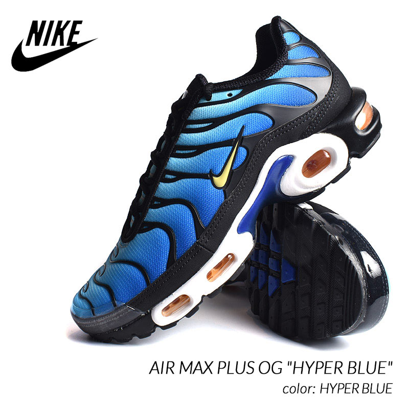 Nike Air Max Plus TN Og Hyper Blue is back at NOIRFONCE