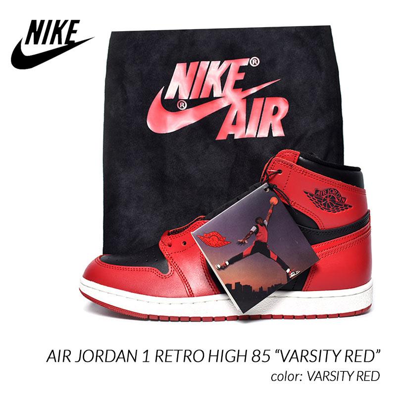 """NIKE AIR JORDAN 1 RETRO HIGH 85 """"VARSITY RED"""" ナイキ エア ジョーダン 1 レトロ ハイ スニーカー ( 赤 黒 メンズ BQ4422-600 )"""