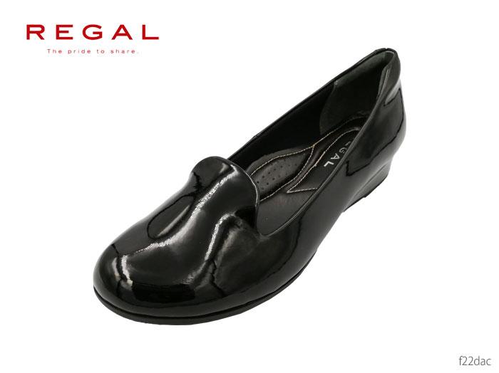 【6/5限定!Wエントリーで最大P16倍!カード】 リーガル レディース REGAL Ladies パンプス ヒール:25mm F22DAC レイン仕様のオブリークパンプス 撥水 靴 正規品