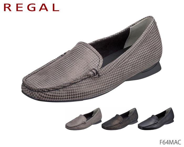 交換無料 送料無料 F64M AC 40%OFFの激安セール モールドモカ リーガル レディース REGAL Ladies ヒール:20 5 ローファー パンプス F64MAC mm 靴 正規品