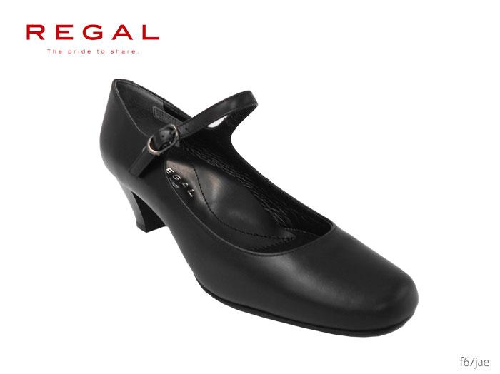 【9/25限定!WエントリーでP最大16倍!カードで】 リーガル レディース REGAL Ladies パンプス ヒール:50mm F67JAE フォーマル ストラップ 冠婚葬祭 就活 オフィス リクルート 靴 正規品