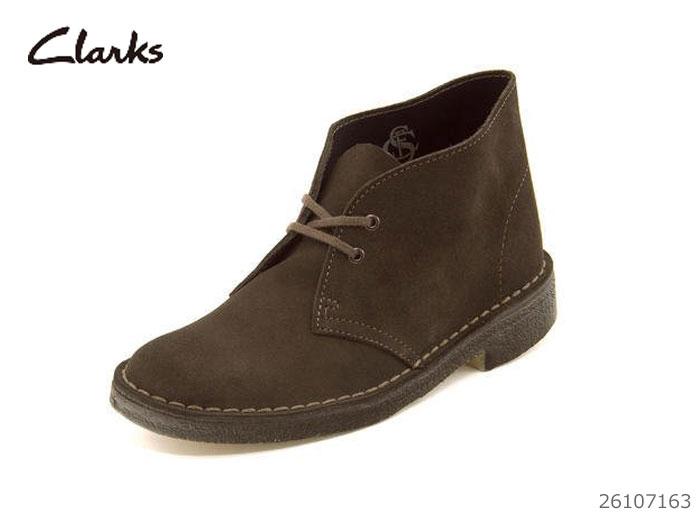 送料無料 レディースブーツ 【12/26 01:59まで当店限定ポイント10倍!エントリーで】 クラークス Clarks Desert Boot デーザートブーツ レディース ブーツ ブラウンスウェード 26107163 靴 正規品