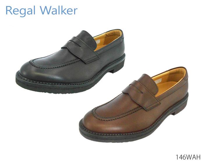 【7/25限定!Wエントリーで最大P16倍!カード】 リーガル REGAL 146W 146WAH ウォーカー ローファー モカシン ビジネスシューズ レザー コンフォートウォーキング 紳士靴 本革 撥水加工 正規品 メンズ