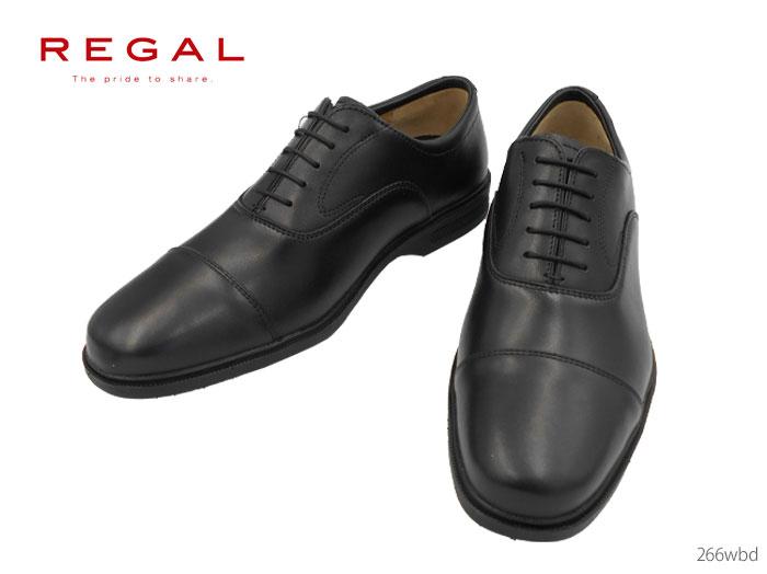 【6/5限定!Wエントリーで最大P16倍!カード】 リーガル 266W 266WBD REGAL ゴアテックス ストレートチップ 牛革 3E 靴 正規品 メンズ