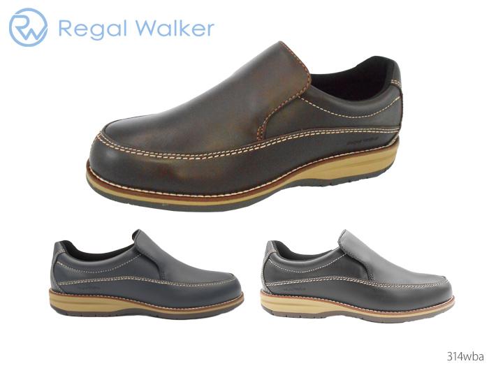 REGAL WALKER 314WBA 正規品 リーガル REGAL 314WBA 314W BA リーガルウォーカー リーガルウォーカー スリッポン 牛革 3E 靴 正規品 メンズ