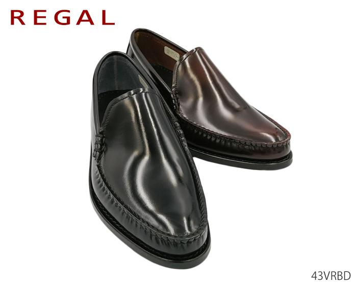 【6/5限定!Wエントリーで最大P16倍!カード】 リーガル REGAL 43VRBD 43VR BD メンズ ビジネスシューズ モカシン ヴァンプ 靴 正規品