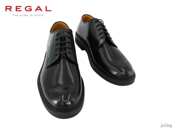 【6/5限定!Wエントリーで最大P16倍!カード】 リーガル REGAL JU13 JU13AG プレーントゥ ブラック リクルート ビジネス 靴 正規品 メンズ