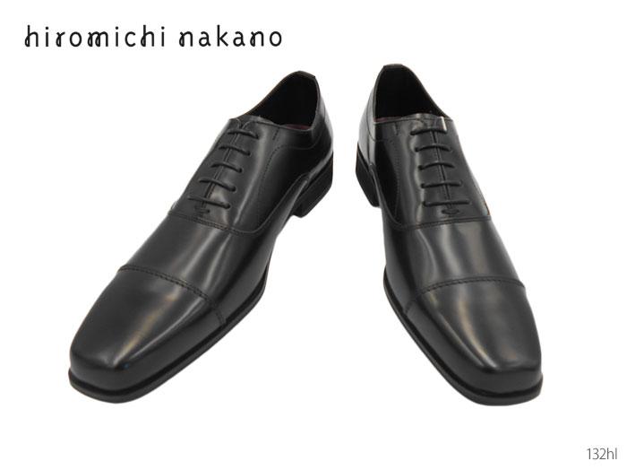 【7/25限定!Wエントリーで最大P16倍!カード】 ヒロミチ ナカノ 132HL ビジネスシューズ ストレートチップ 靴 メンズ