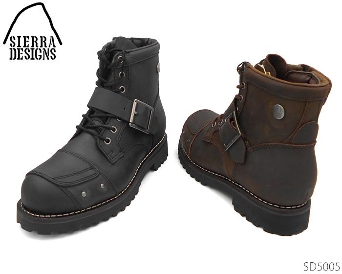 【6/5限定!Wエントリーで最大P16倍!カード】 SIERRADESIGNS シエラデザインズ バイカーシリーズ 靴 メンズ バイカーブーツ SD5005 5005 靴 正規品