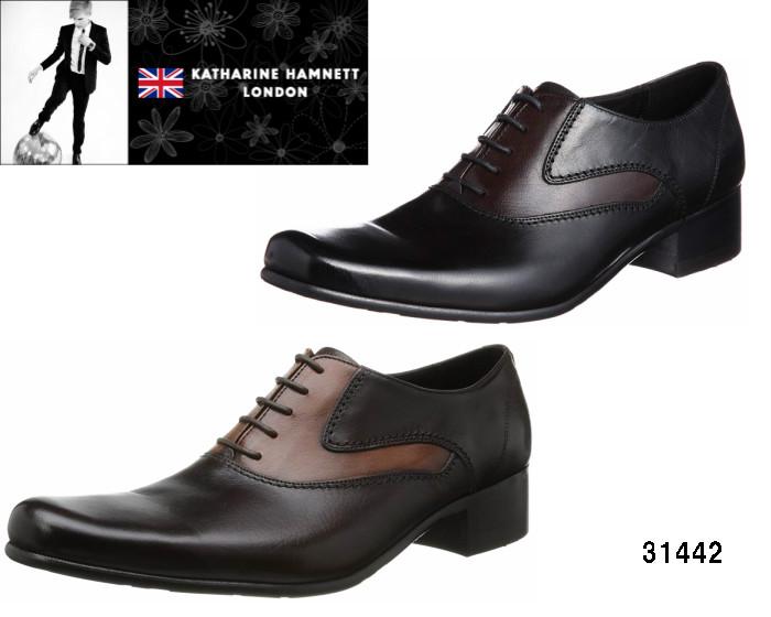 【6/5限定!Wエントリーで最大P16倍!カード】 キャサリンハムネット ロンドン KATHARINE HAMNETT LONDON 31442 手塗りブラシの質感が残るアンティーク調の仕上げと、カラーリングが映えるラウンドトウシューズ 靴 メンズ