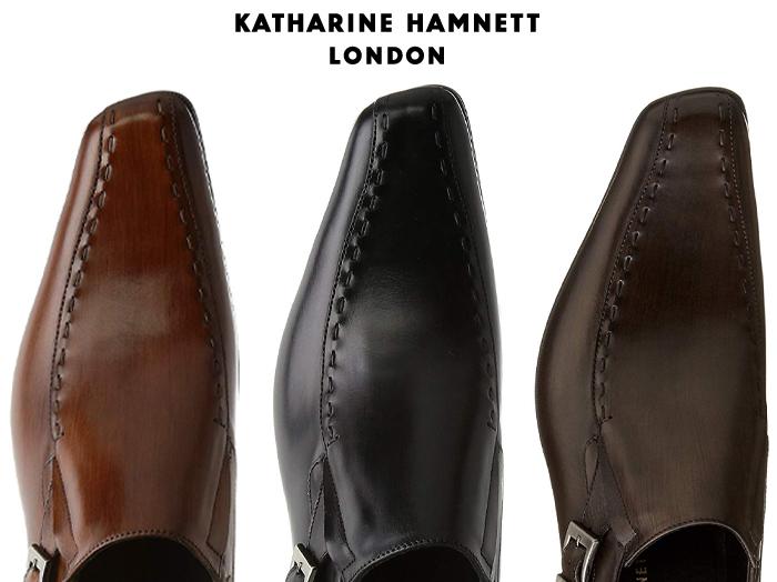 【6/5限定!Wエントリーで最大P16倍!カード】 キャサリンハムネット ロンドン KATHARINE HAMNETT LONDON 31600 サイドにゴムを入れ履きやすさを考慮したバンプスリッポン 靴 メンズ