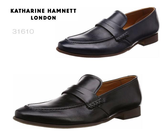 【6/5限定!Wエントリーで最大P16倍!カード】 キャサリンハムネット ロンドン 31610 KATHARINE HAMNETT LONDON 本革 ローファー ラウンドトゥ 靴 メンズ