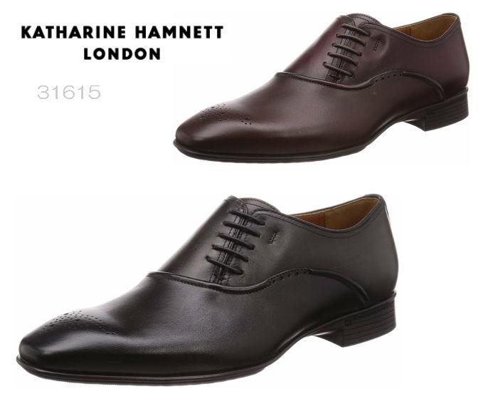 【6/5限定!Wエントリーで最大P16倍!カード】 キャサリンハムネット ロンドン KATHARINE HAMNETT LONDON 31615 サイドレース メダリオン 靴 メンズ