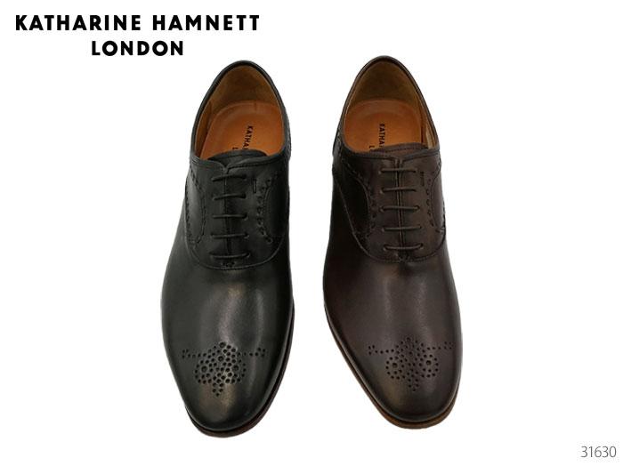 【4/10限定!WエントリーでP最大16倍!カード】 キャサリンハムネット ロンドン 31630 KATHARINE HAMNETT LONDON レースアップ メダリオン ビジネスシューズ 靴 メンズ