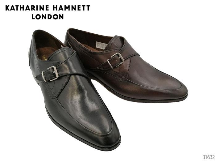 【6/5限定!Wエントリーで最大P16倍!カード】 キャサリンハムネット ロンドン 31632 KATHARINE HAMNETT LONDON スリッポン モンクストラップ ビジネスシューズ 靴 メンズ