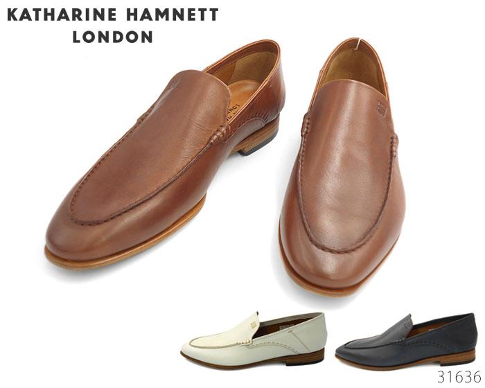 【6/5限定!Wエントリーで最大P16倍!カード】 キャサリンハムネット ロンドン KATHARINE HAMNETT LONDON 31636 スリッポン 靴 メンズ
