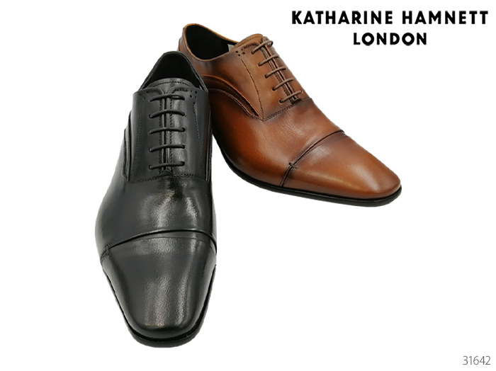 【9/25限定!WエントリーでP最大16倍!カードで】 キャサリンハムネット 靴 ビジネスシューズ ドレススリポン KATHARINE HAMNETT LONDON ストレートチップ 31642キャサリン ハムネット 靴 ビジネスシューズ レース ビジネスシューズ 靴 メンズ