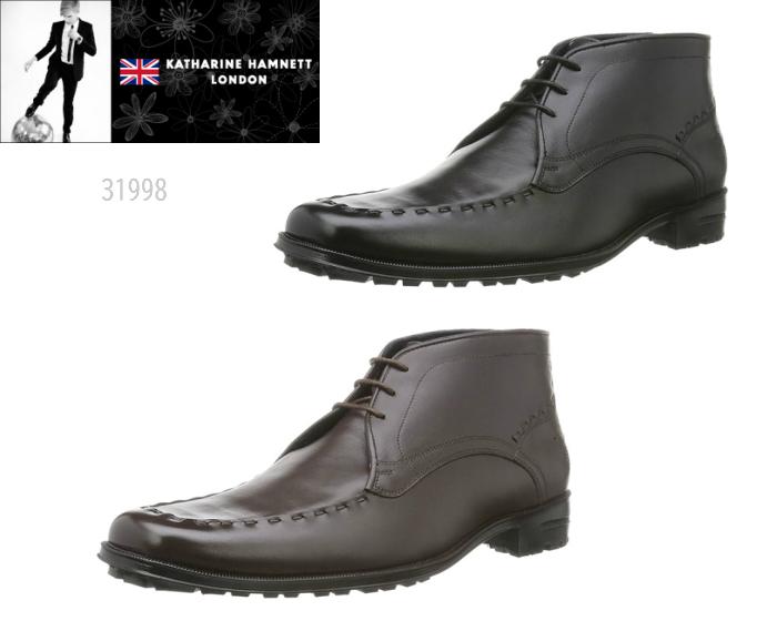 【4/10限定!WエントリーでP最大16倍!カード】 キャサリンハムネット ロンドン KATHARINE HAMNETT LONDON 31998 雨や汚れに強く梅雨時期に活躍するレインブーツ 靴 メンズ