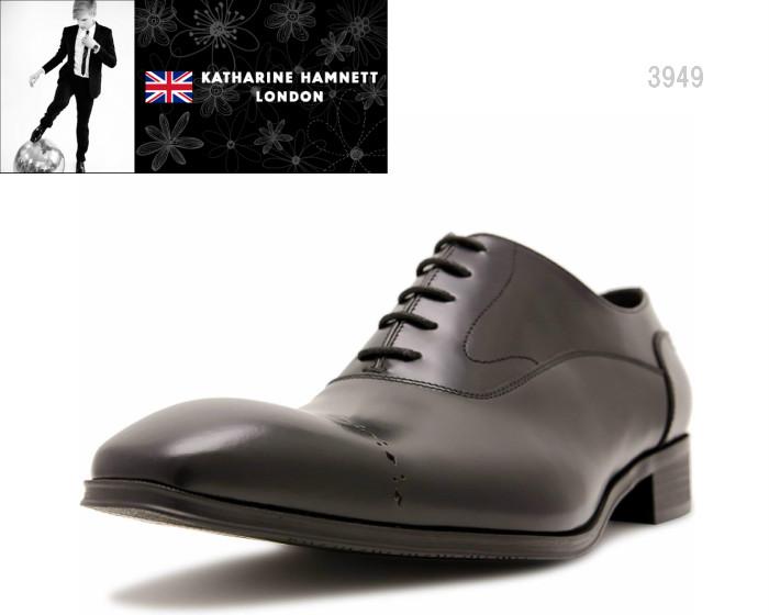 【6/5限定!Wエントリーで最大P16倍!カード】 キャサリンハムネット ロンドン 3949 KATHARINE HAMNETT LONDON 内羽根式メダリオンストレートチップ 靴 メンズ