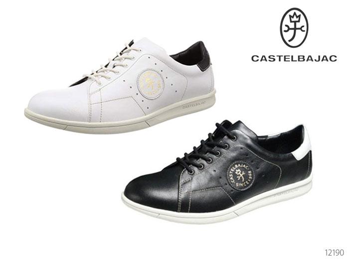 【6/5限定!Wエントリーで最大P16倍!カード】 カステルバジャック 12190 レザースニーカー CASTELBAJAC メンズシューズ 靴 正規品