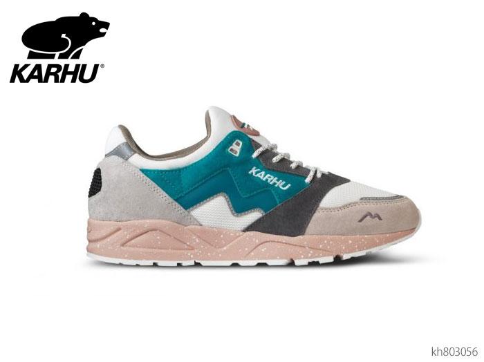【6/5限定!Wエントリーで最大P16倍!カード】 カルフ KARHU KH803056 アリア ホワイトキャップグレー/モザイクブルー スニーカー メンズ レディース ユニセックス 靴