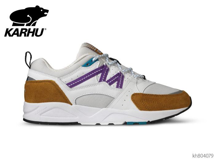 【6/5限定!Wエントリーで最大P16倍!カード】 カルフ KARHU KH804079 フュージョン2.0 バックソーンブラウン/ブライトホワイト スニーカー メンズ レディース ユニセックス 靴