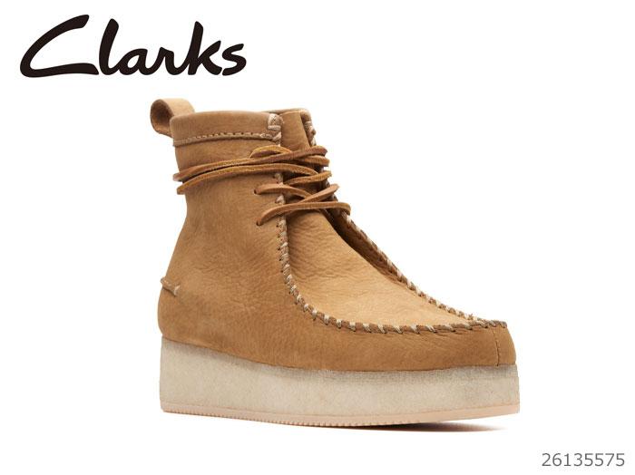【12/26 01:59まで当店限定ポイント10倍!エントリーで】 CLARKS クラークス シューズ レディース Wallabee Craft Oak Nubuck 26135575