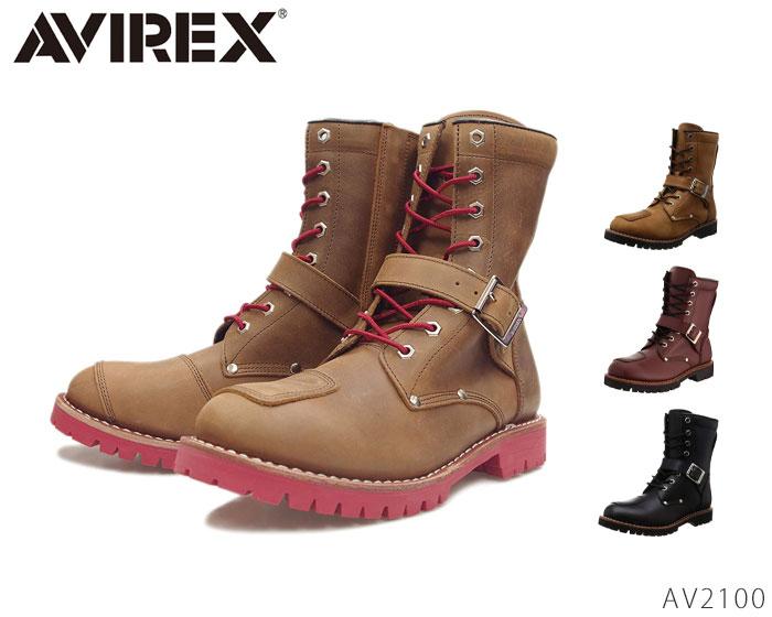 【6/5限定!Wエントリーで最大P16倍!カード】 アビレックス AV2100 YAMATO 本革 エンジュニアブーツ 靴 メンズ レディース ユニセックス 男女兼用