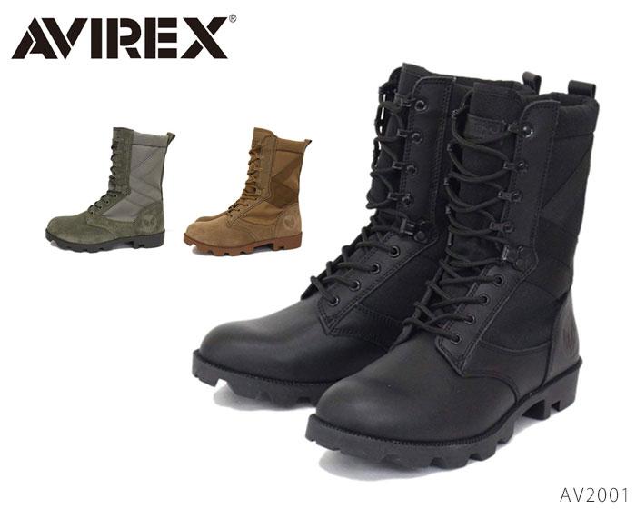 【4/10限定!WエントリーでP最大16倍!カード】 アビレックス AV2001 コンバットブーツ 靴 メンズ