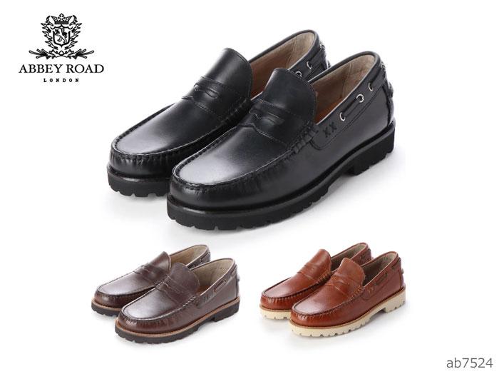 【6/5限定!Wエントリーで最大P16倍!カード】 マドラス アビーロード AB7524 メンズ ビジネスシューズ madras ABBEY ROAD 靴 カジュアル モカシン