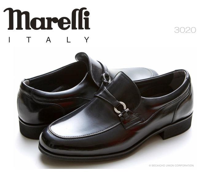 【6/5限定!Wエントリーで最大P16倍!カード】 マレリー Marelli MARELLI Waterproof 防水セメント製法3020 ビジネス ビット メンズシューズ 靴