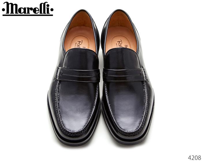 【9/25限定!WエントリーでP最大16倍!カードで】 マレリー Marelli 4208 リフレッシュー・オートフィット・インソール メンズビジネス 高級 キッド 本革 靴