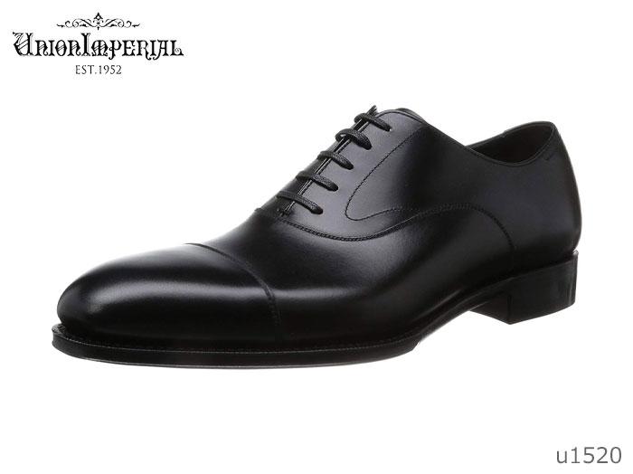 【6/5限定!Wエントリーで最大P16倍!カード】 ユニオンインペリアル Union Imperial メンズ ビジネスシューズ 1520 ブラック バルモラルストレートチッブ 靴