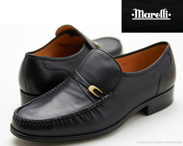 【6/5限定!Wエントリーで最大P16倍!カード】 マレリー MARELLI 4220 ビジネスシューズ リフレッシュー オート フィット インソール 4E ブラック 黒 レザー 靴 メンズ