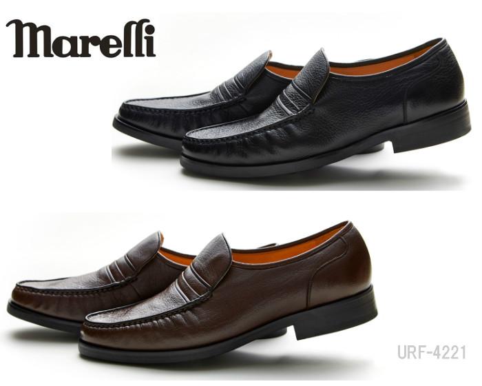 【6/5限定!Wエントリーで最大P16倍!カード】 マレリー MARELLI 4221 ビジネスシューズ リフレッシュー オート フィット インソール 4E ブラック 黒 ブラウン 茶 レザー 靴 メンズ